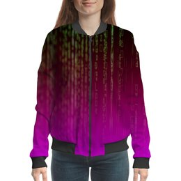 "Бомбер ""Матрица"" - компьютеры, матрица, код, программа, пароль"