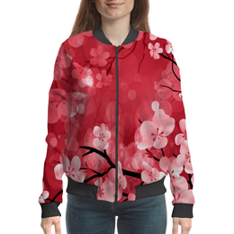 """Бомбер """"Дерево"""" - весна, дерево, цветы, цветочки, природа"""