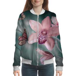 """Бомбер """"Бомбер Орхидеи"""" - лето, цветы, весна, орхидеи"""