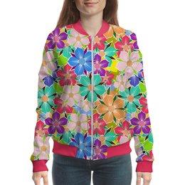"""Бомбер """"Floral Design"""" - цветы, жене, женщине, флора, моднице"""