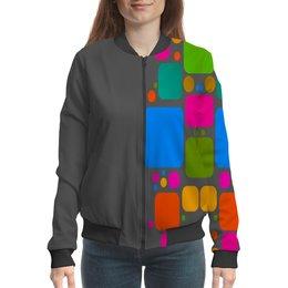 """Бомбер """"Квадраты"""" - узор, графика, кубики, геометрия, квадраты"""