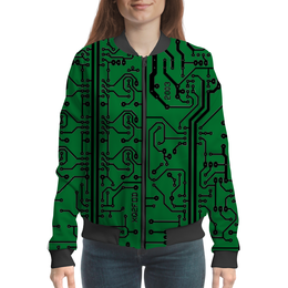 "Бомбер ""Электроника"" - дизайн, техника, наука, электроника"