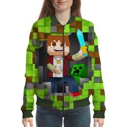 """Бомбер """"Minecraft"""" - компьютерные игры, майнкрафт, маме, игроманам, строителям"""