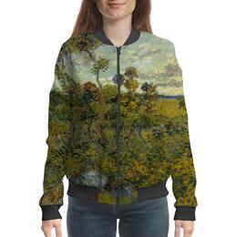 "Бомбер ""Закат в Монмажуре (Винсент ван Гог)"" - картина, ван гог"