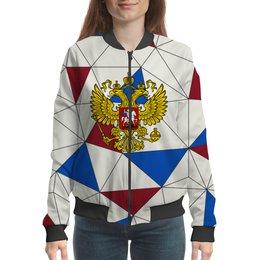"""Бомбер """"Без названия"""" - русский, россия, герб, орел, флаг"""