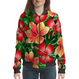 "Бомбер ""Сад цветов"" - цветочки, природа, лето, весна, цветы"