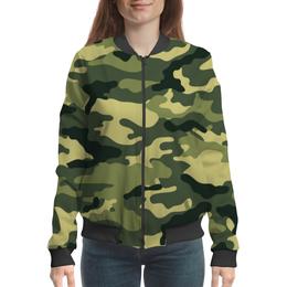 "Бомбер женский ""Милитари"" - армия, милитари, коммуфляжный"