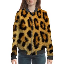 """Бомбер """"Леопард"""" - леопард, звери, дикая природа"""