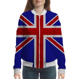 "Бомбер ""British Design (двусторонний)"" - англия, флаг, символ, британия, великобритания"