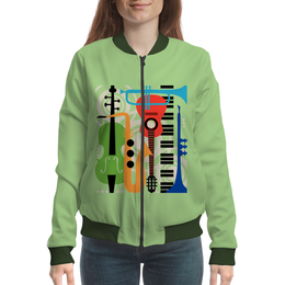 "Бомбер ""Музыкальные инструменты"" - музыка, гитара, скрипка, инструменты, саксафон"