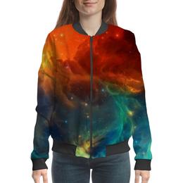 """Бомбер женский """"Космическая туманность"""" - космос, фотография, звёзды, спутник, туманность"""