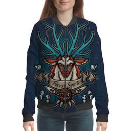 """Бомбер """"Forest Spirit. Лесной Дух"""" - рисунок, олень, фэнтэзи, лесной дух"""