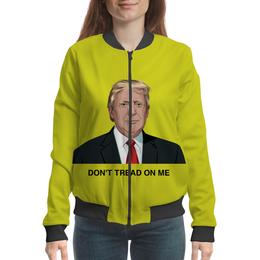 "Бомбер ""Trump. Dont tread on me. Дональд Трамп"" - америка, обама, путин, выборы, трамп"