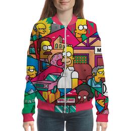 "Бомбер ""The Simpsons"" - юмор, гомер, семья, мульт, симсоны"