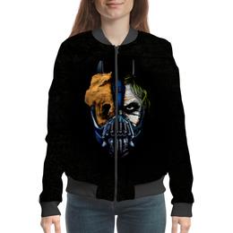 "Бомбер женский ""Джокер (Бэтмен)"" - batman, джокер, бэтмен, mortal kombat, темный рыцарь"
