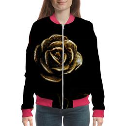 """Бомбер женский """"Роза - прекрасная"""" - роза, яркая, необычная, крисавая"""