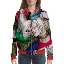 "Бомбер ""The Joker&Harley Quinn Design"" - джокер, харли квинн, отряд самоубийц, безумная любовь, киноманам"