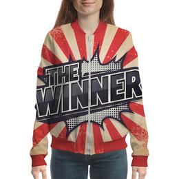 "Бомбер женский ""The Winner"" - арт, рисунок, дизайн, графика, иллюстрация"