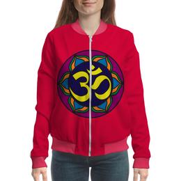 """Бомбер женский """"очень древнийе знаки символы магия.мандала."""" - знак, мандала, символ, магия"""