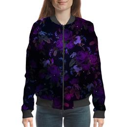 """Бомбер """"Фиолтеровые Розы"""" - rose, фиолетовый, purple, розы"""