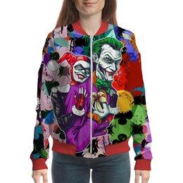 "Бомбер ""Harley Quinn&The Joker"" - джокер, харли квинн, dc комиксы, отряд самоубийц, суперзлодеи"