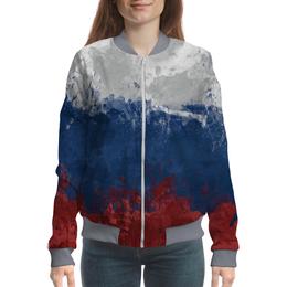 """Бомбер """"Россия"""" - россия, флаг россии, патриоты россии"""