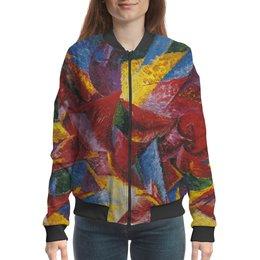 """Бомбер """"Пластичные формы лошади (картина Умберто Боччони)"""" - картина, живопись, футуризм, кубизм, боччони"""