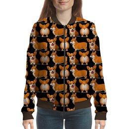 """Бомбер """"Корги """" - няшка, мода, собачки, собачникам"""