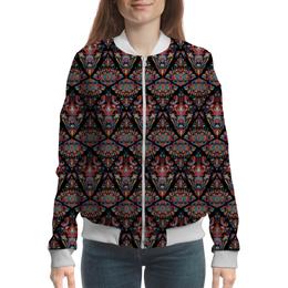 """Бомбер женский """"Орнаментальный узор"""" - арт, узор, орнамент, стильный, этнический"""