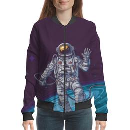 "Бомбер ""The Spaceway Travel"" - звезды, космос, футболка космос, одежда космос"