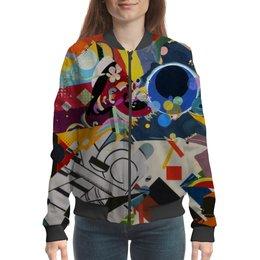 """Бомбер """"Абстракционизм"""" - картина, живопись, супрематизм, абстракционизм, орфизм"""