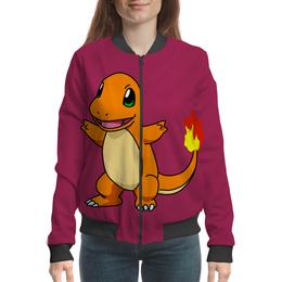 "Бомбер женский "" PoKeMon Charmander"" - игра pokemon go, pokemon charmander, покемон чармандер, покемон огненная ящерица"