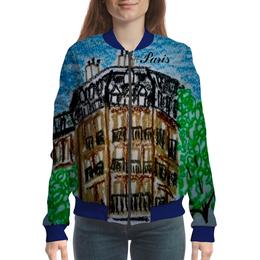 """Бомбер """"Париж-Париж"""" - дом, париж, сена"""