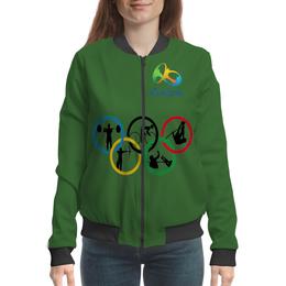 """Бомбер женский """"Олимпиада в Рио 2016"""" - спорт, бразилия, олимпиада в рио 2016"""