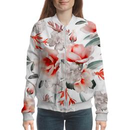 """Бомбер """"Цветы"""" - цветы"""