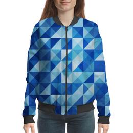 """Бомбер женский """"Геометрические фигуры"""" - арт, абстракция, треугольники, квадраты"""