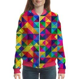 """Бомбер """"Geometric Design"""" - фигуры, треугольники, стиль, геометрия, абстракция"""