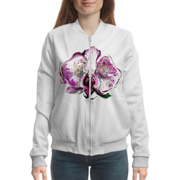 """Бомбер женский """"Признание любви"""" - цветы, цветок, яркий, красивый"""