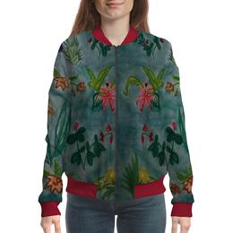 "Бомбер ""Ботаника"" - цветы, тропики"