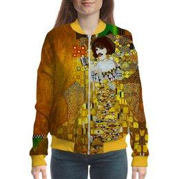 "Бомбер ""Freddie Mercury (Gustav Klimt)"" - жене, искусство, фредди меркьюри, густав климт, меломанам"