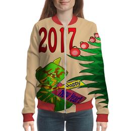 """Бомбер """"Новогодний сюрприз"""" - новый год, подарок, сюрприз, новогодний, 2017"""