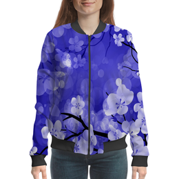 "Бомбер ""Весенние цветки"" - цветы, весна, природа, дерево, цветочки"