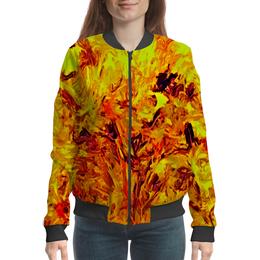 "Бомбер ""Яркая живопись"" - картина, яркие, художник, текстуры, яркие краски"