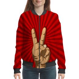 """Бомбер женский """"Всё PEACE DATA"""" - стиль, мир, мода, окей, отлично"""