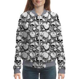 """Бомбер """"Skull Design"""" - анатомия, абстракция, скелет, череп, skull"""