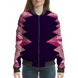"""Бомбер """"Розовые кристаллы"""" - арт, треугольники, кристаллы"""