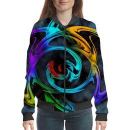 """Бомбер """"Узор красок"""" - цветы, космос, пятна, краски, абстракция"""
