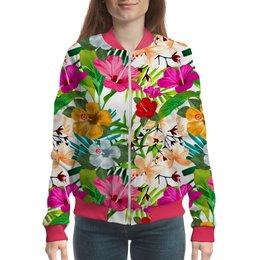 """Бомбер """"Flora Design"""" - цветы, жене, абстракция, женщине, флора"""