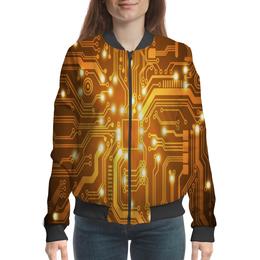 """Бомбер """"Материнская плата"""" - технологии, плата, процессор, системная плата, программистам"""