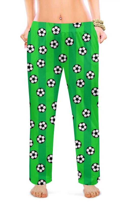 Женские пижамные штаны Printio Футбольные мячи